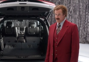 """Ron Burgundy"""" anchors new 2014 Dodge Durango advertising campaign in unique partnership with Dodge brand and Paramount Pictures upcoming film """"Anchorman 2: The Legend Continues"""" (The Dodge Brand/Paramount Pictures)"""